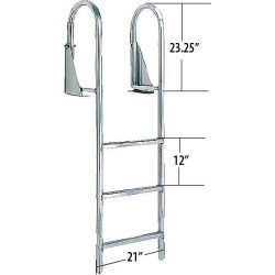 International Dock Flip-Up Dock Ladder, 3-Step found on Bargain Bro India from Camping World for $125.41