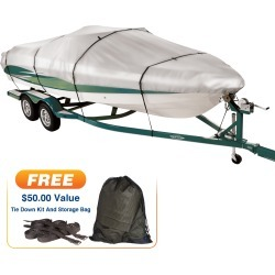 Covermate Imperial 300 V-Hull Outboard Boat Cover, 18'5