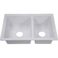 Better Bath Double Kitchen/Galley Sink, White found on Bargain Bro from Camping World for USD $95.75