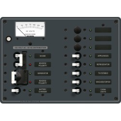 Blue Sea Systems AC 2 Sources +9 Positions Panel