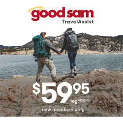 1 Year of Good Sam Travel Assistance $59.99 found on Bargain Bro Philippines from Camping World for $59.99