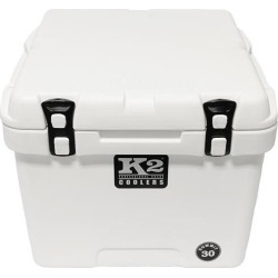 K2 Summit 30 Quart Cooler, Glacier White found on Bargain Bro from Camping World for USD $189.99