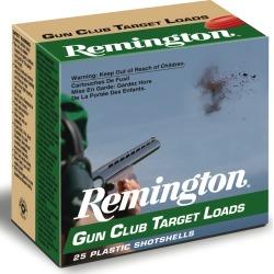 "Remington Gun Club Target Loads, 12-ga, 2-3/4"", 1-1/8 oz, #8"
