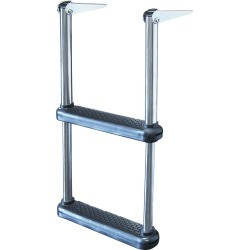 Dockmate Telescoping Drop Ladder With Plastic Steps, 2-Step