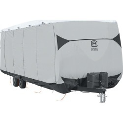 Classic Accessories SkyShield Deluxe Tyvek Travel Trailer Cover, 15'-18' found on Bargain Bro Philippines from Camping World for $394.97
