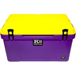 K2 Summit 50 Quart Cooler, Purple Base and Yellow Lid found on Bargain Bro from Camping World for USD $250.79