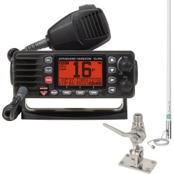 Standard Horizon Eclipse GX1300 Class D VHF Package, Black, w/Antenna & SS Mount found on Bargain Bro India from Camping World for $208.99