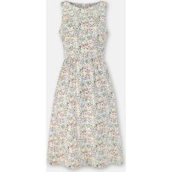 Cath Kidston Floral Bunnies Print Fit & Flare Dress in Linen White, Bunny Meadow, Cotton, 12 found on Bargain Bro UK from Cath Kidston (UK)