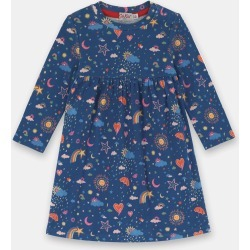 Cath Kidston Weather Print Long Sleeve Baby Jersey Dress in Teal, 100% Cotton, 0-3 Mo found on Bargain Bro UK from Cath Kidston (UK)
