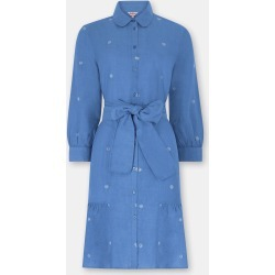 Cath Kidston Shells Print Embroidered Shirt Dress in Chambray, Seaside Shells, 100% Linen, 16 found on Bargain Bro UK from Cath Kidston (UK)