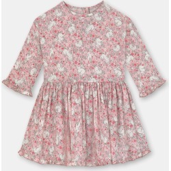 Cath Kidston Jumping Bunnies Baby Long Sleeve Dress in Light Pink, 100% Viscose, 3-6 Mo found on Bargain Bro UK from Cath Kidston (UK)