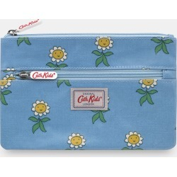 Cath Kidston Petal Flowers Kids Double Zip Pencil Case in Blue Grey found on Bargain Bro UK from Cath Kidston (UK)