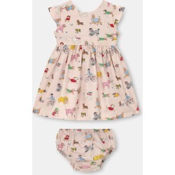 Cath Kidston Small Park Dogs Baby Ayda Dress in Soft Pink, 3-6 Mo found on Bargain Bro UK from Cath Kidston (UK)