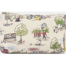 Cath Kidston Matt Zip Cosmetic Bag in Ivory, Billie Goes to Town, 100% PVC Coated Cotton found on Bargain Bro UK from Cath Kidston (UK)