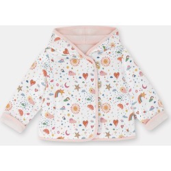 Cath Kidston Weather Print Baby Hooded Quilted Jacket in Ivory, 100% Cotton, 18-24 Mo found on Bargain Bro UK from Cath Kidston (UK)
