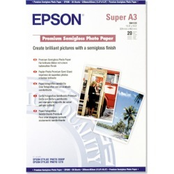 Epson Premium (Super A3) 329x483mm Semi-Gloss Photo Paper 251g/m2 (White) Pack of 20 Sheets found on Bargain Bro UK from CCL COMPUTERS LIMITED