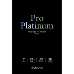 Canon PT-101 (A3) 300gsm Pro Platinum Photo Paper (Pack of 20 Sheets) found on Bargain Bro UK from CCL COMPUTERS LIMITED