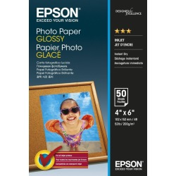 Epson (10cm x 15cm) 200g/m2 Glossy Photo Paper (White) 1 Pack of 50 Sheets found on Bargain Bro UK from CCL COMPUTERS LIMITED