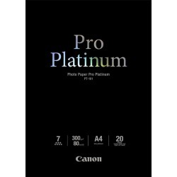 Canon PT-101 (A4) 300g/m2 Pro Platinum Photo Paper (20 Sheets) found on Bargain Bro UK from CCL COMPUTERS LIMITED