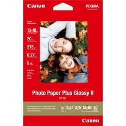 Canon PIXMA PP-201 (13cm x 18cm) 265g/m2 Plus Glossy II Photo Paper (White) 1 Pack of 20 Sheets found on Bargain Bro UK from CCL COMPUTERS LIMITED
