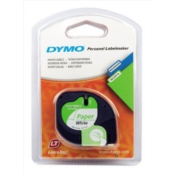 Newell LetraTAG (12mm) Paper Tape (Black on White)
