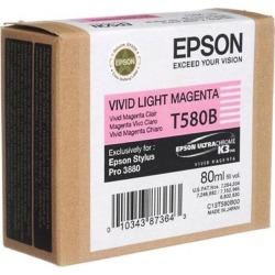 Epson T580B High Capacity Ink Cartridge - 80 ml (Vivid Light Magenta)