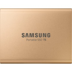 Samsung T5 MU-PA500B (500GB) USB 3.1 Gen2 Portable Solid State Drive (Gold) found on Bargain Bro UK from CCL COMPUTERS LIMITED