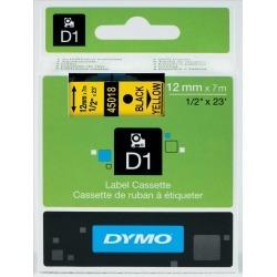 Dymo D1 (12mm) Gloss Tape (Black on Yellow)