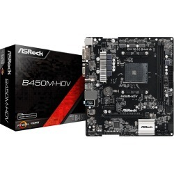 ASRock B450M-HDV mATX Motherboard for AMD AM4 CPUs found on Bargain Bro UK from CCL COMPUTERS LIMITED