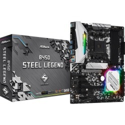 ASRock B450 Steel Legend ATX Motherboard for AMD AM4 CPUs found on Bargain Bro UK from CCL COMPUTERS LIMITED