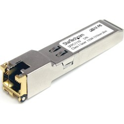 StarTech.com Gigabit Copper SFP Transceiver Module 1000Base-T, RJ45, MSA Compliant (100m) found on Bargain Bro UK from CCL COMPUTERS LIMITED