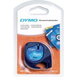 Newell LetraTAG (12mm) Plastic Tape (Black on Blue)