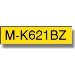 Brother P-touch M-K621BZ (9mm x 8m) Black on Yellow Non Laminated Labelling Tape