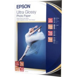 Epson (A4) Ultra Glossy Photo Paper (15 Sheets) 300gsm (White) found on Bargain Bro UK from CCL COMPUTERS LIMITED