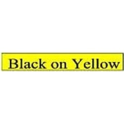 Brother P-touch TC-601 (12mm x 7.5m) Black On Yellow Gloss Laminated Labelling Tape
