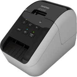Bundle: Brother QL-810W Professional Wireless Ultra-fast Label Printer + Red On Black Tape and Black On White Tape