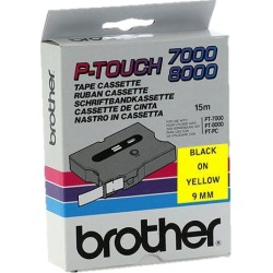 Brother P-touch TX-621 (9mm x 15m) Black On Yellow Gloss Laminated Labelling Tape
