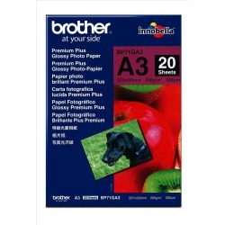 Brother BP71GA3 Innobella Premium Plus Glossy (A3) 260g/m2 Photo Paper (Pack of 20 Sheets) found on Bargain Bro UK from CCL COMPUTERS LIMITED