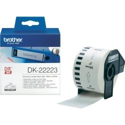 Brother DK Labels DK-22223 (50mm x 30.5m) Continuous Paper Tape (Black On White) 1 Roll
