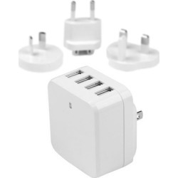 StarTech.com 4-Port USB Wall Charger - International Travel - 34W/6.8A - White found on Bargain Bro UK from CCL COMPUTERS LIMITED