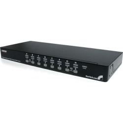 StarTech.com 16-Port (1U) Rack Mount USB KVM Switch Kit with OSD and Cables
