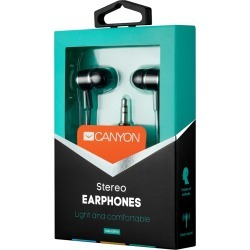 Canyon Essential Stereo Earphones Black found on Bargain Bro UK from CCL COMPUTERS LIMITED