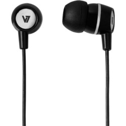 V7 Stereo Earbuds with Inline Microphone (Black) found on Bargain Bro UK from CCL COMPUTERS LIMITED