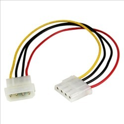 StarTech.com (12 inch) Molex LP4 Power Extension Cable - M/F found on Bargain Bro UK from CCL COMPUTERS LIMITED