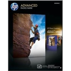 HP Advanced (13x18cm) 250g/m2 Glossy Photo Paper Borderless (White) Pack of 25 Sheets found on Bargain Bro UK from CCL COMPUTERS LIMITED