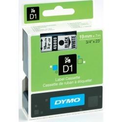 Dymo D1 (19mm) Gloss Tape (Black on White)