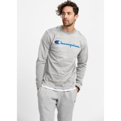 Champion Cotton Long Sleeve Tee - Oxford Grey / L found on Bargain Bro India from championusa.com.au for $46.09