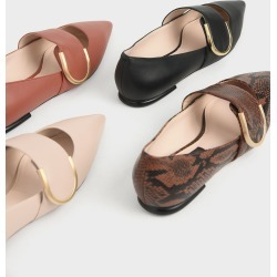Leather Mary Jane Flats found on Bargain Bro from charleskeith.com UK for USD $46.77
