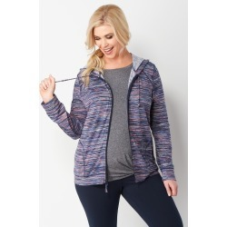 Plus Size Relaxed Restyled Textured Print Plus Size Jacket - White - Christopher & Banks CJ Banks