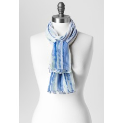 Ink Stripe Scarf - Camelot Blue - Christopher & Banks found on MODAPINS from christopher & banks for USD $22.95